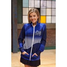 Limelight Dancewear Next Step Riley dance JacketA(Blue) Canada online at SHOP.CA - DJT-SUBRILEY. The Next Step Premium Performance Dance Jacket.  Made of a breathable, full stretch premium performance fabric.  This fo Girl's Active Jackets