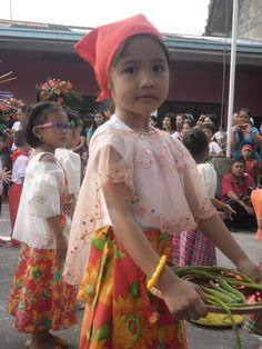 Kim (my niece) wearing a Philippine traditional costume