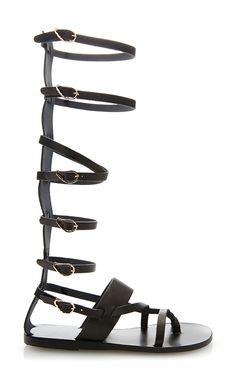Alethea Tall Leather Gladiator Sandals by Ancient Greek Sandals - Moda Operandi