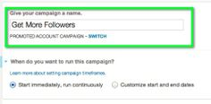 naming a new promoted account campaign