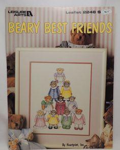 Beary Best Friends Cross Stitch Pattern Leaflet 2248 Bears Leisure Arts  #LeisureArts #Frame