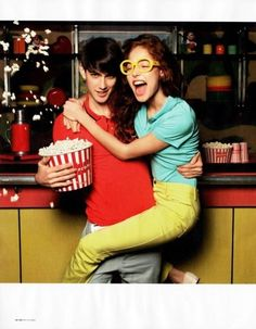 Boy,Bright,Cinema,Clothes,Couple,Date,Fashion,Romance,Popcorn,Love,
