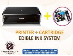 Canon PIXMA Wireless All-In-One Inkjet Photo Printer - includes brand new printer (with scanner) with complete set of edible ink cartridges. Cake Decorating Supplies, Cookie Decorating, Edible Ink Printer, Printer Cartridge, Ink Cartridges, Party Punch Recipes, Cake Games, Wafer Paper, Unique Cakes