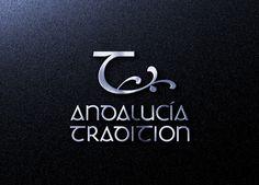 """Diseño de logotipo para Andalucía Tradition, una empresa malagueña que se dedica a la organización de excursiones muy reducidas para conocer la esencia de Andalucía a partir de 4 pilares: la pesca, el vino, los toros y el aceite. El icono  es una """"T"""" obtenida a partir del tipo de letra escogido para el texto y que nos recuerda muchas cosas: Una rama de olivo, un barco surcando las olas, el vino, el aceite, las astas de un toro..."""