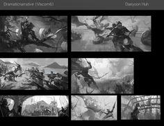 ArtStation - Composition thumbnails, Daeyoon Huh
