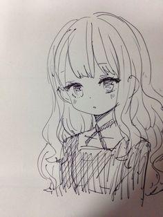 Anime Drawings Sketches, Anime Sketch, Manga Drawing, Easy Drawings, Manga Art, Anime Art, Sketch Drawing, Cartoon Kunst, Anime Kunst