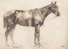 Resultado de imagen para dibujo de caballos de edgar degas