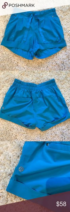 Lululemon blue shorts Shorts only worn once. Very comfortable and. A pretty color! lululemon athletica Shorts