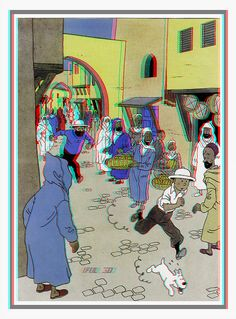 BABON BULUKAN!!!  Tintin 3D anaglyph (color) - by iful_3d, via Flickr