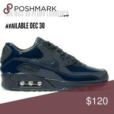 Air Max 90 PEDRO LOURENCO-navy Size 6 women's- NIB - NEW IN Box -  Nike - Size 6 women's  - Navy - Patent leather and synthetic materials - Designed in collaboration with up-and-coming Brazilian designer Pedro Louren Nike Shoes Sneakers