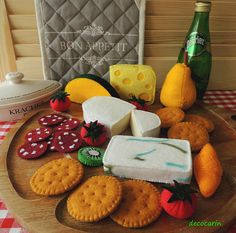 Fühlte mich essen fühlte mich Käse Board Rollenspiel