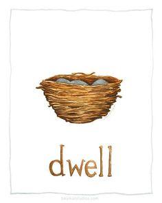 Dwell 8x10 Print by BeSmallStudios on Etsy, $18.00