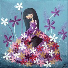 La robe a fleurs - Les toiles d'Az.