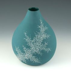 Porcelain - need to remember to do something like this with wax to resist the glaze.