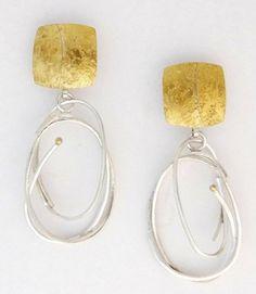 Silver Scribble Loop earrings by Sydney Lynch