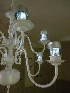 diy solar chandelier light up your patio all night solar jar
