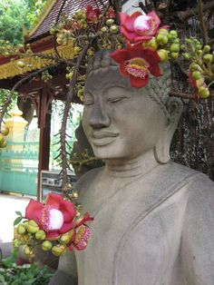 Buddha Thailand - Beautiful Flowers