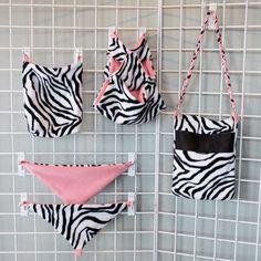 Sugar Glider Gear Set in Zebra with Pink Accent