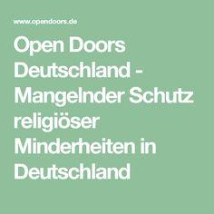 Open Doors Deutschland - Mangelnder Schutz religiöser Minderheiten in Deutschland