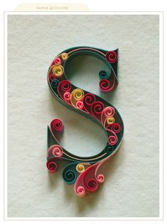 Printable Quilling Patterns | The person that designed this quilling alphabet deserves a medal for ...