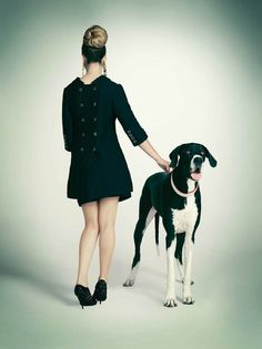 Doggy Style by Emily Shur: the fashionista and her dog l #photography #fashion