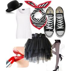 """Mime Costume"" by mgdovin on Polyvore"