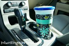 Recycled plastic cup garbage can for your car