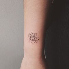tiny rose on top of wrist, second one for @lexpota