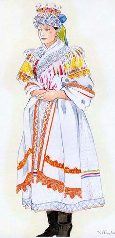 Detva - ÚĽUV - Ústredie ľudovej umeleckej výroby Folklore, Polish, Princess Zelda, Costumes, Tattoos, Illustration, Fictional Characters, Art, Art Background