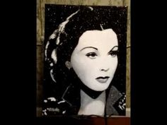 ▶ Vivian Leigh Crushed Glass Painting By Stephani Chandler - YouTube