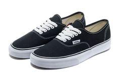 Vans Schoenen Zwart Authentic Klassieke Canvas van de Dames/Heren Sneakers