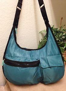 cb36044787b8 Thirty One Explorista Teal Nylon Crossbody Bag Shoulder Handbag Diaper