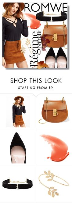 """♢BLACK AND BROWN♢"" by tamsy13 ❤ liked on Polyvore featuring Chloé, Anja, Kate Spade, Anissa Kermiche and Miss Selfridge"