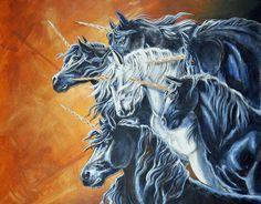 Minority by Hbruton on DeviantArt Unicorn Fantasy, Unicorn Horse, Unicorn Art, Alien Creatures, Magical Creatures, Fantasy Creatures, Beautiful Creatures, Majestic Unicorn, Magical Unicorn