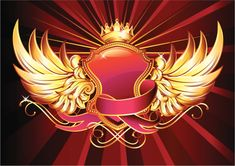 retro-styled winged insignia, vector artwork Free Vector Graphics, Free Vector Art, Bling Wallpaper, Animal Body Parts, Best Background Images, Abstract Images, Feature Film, Photo Illustration, Royalty Free Images