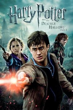 """""""Harry Potter and The Deathly Hallows: Part Plot: Harry, Ron, and Hermione search for Voldemort's remaining Horcruxes in their effort to destroy the Dark Lord as the final battle rages on at Hogwarts. Harry Potter Characters Names, Harry Potter Poster, Mundo Harry Potter, Harry Potter Movies, Harry Potter Magic, Fictional Characters, Deathly Hallows Part 2, Harry Potter Deathly Hallows, Harry Potter Hogwarts"""