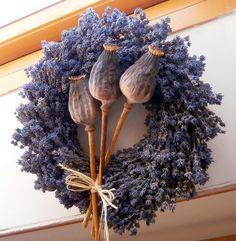 My tři. Lavender Crafts, Lavender Wreath, Silk Flower Wreaths, Floral Wreath, Corn Husk Wreath, Deco Floral, Valentine Wreath, Diy Wreath, Summer Wreath