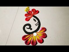 Discover recipes, home ideas, style inspiration and other ideas to try. Easy Rangoli Designs Videos, Simple Rangoli Border Designs, Easy Rangoli Designs Diwali, Rangoli Simple, Rangoli Designs Latest, Rangoli Designs Flower, Free Hand Rangoli Design, Small Rangoli Design, Colorful Rangoli Designs
