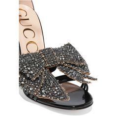 Sandales en cuir à noeud amovible orné de cristauxGucci FST5I