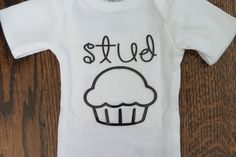 Cute Stud Muffin Onesie by StickItOnMe on Etsy