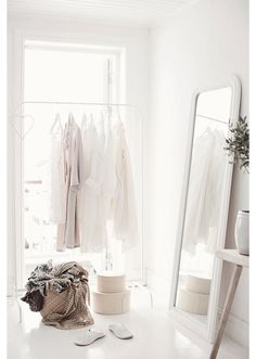 ikea mulig clothes rack. Need to spraypaint mine white or copper or bronze - STYLE DECORUM http://www.styledecorum.com/