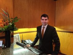 Wonderful, welcoming Joseph at Hotel Giraffe!