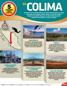 Si quieres disfrutar de bellos lugares, te recomendamos el estado de Colima, en donde encontrarás ⛰️montaña, volcán y ️playa.#InfografíaNTX