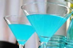 Blue lemon Martini 3 ounces Tangueray Gin 1/2 ounce Dry Vermouth 1 teaspoon Blue Curacao 1 teaspoon Fresh Lemon Juice