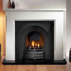Artisan Harlington Black Arched Cast Iron Fireplace