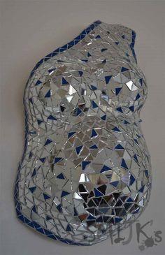 Belly cast gipsbuik mosaic