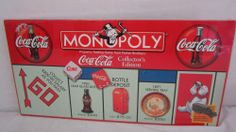 Monopoly Coke Coca Cola Collector's Edition Board Hasbro Factory for sale online Monopoly Game, Birthday Wishlist, Leaded Glass, Toy Boxes, The Collector, Coca Cola, Board Games, Movies, Gifts