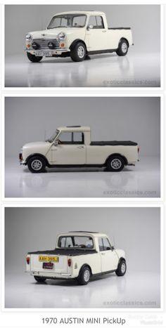 1970 Austin Mini Pickup Mini Cooper Classic, Classic Mini, Old Pickup, Pickup Trucks, John Cooper Works, Bmw Classic Cars, Morris Minor, Mini Trucks, Smart Car