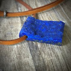 ROUGH LAPIS LAZULI , Pendant Necklace  on Leather, Quality and Precious Lapis Lazuli Gemstone, Crystal, raw Lapis Lazuli Pendant Jewelry by GingerandFoxy on Etsy Pendant Jewelry, Gemstone Jewelry, Pendant Necklace, Cleaning Stone, Lapis Lazuli Pendant, Ibiza Fashion, Deer Skin, Leather Necklace, Leather Cord