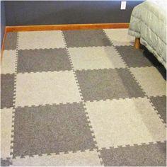 Beautiful Rubber Carpet Pad for Basement